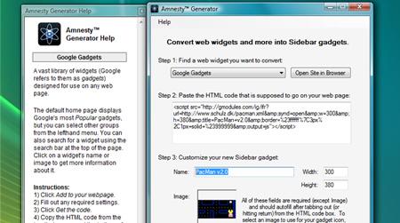 Vista için Google gadget