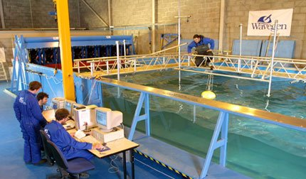 Okyanus Dalgasından elektrik üretiliyor.