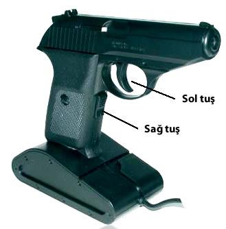 Silah görünümlü mouse