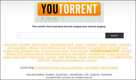 YouTorrent - Yeni BitTorrent arama motoru