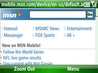 Internet Explorer Mobile 6 ve Ağ bağlantısı