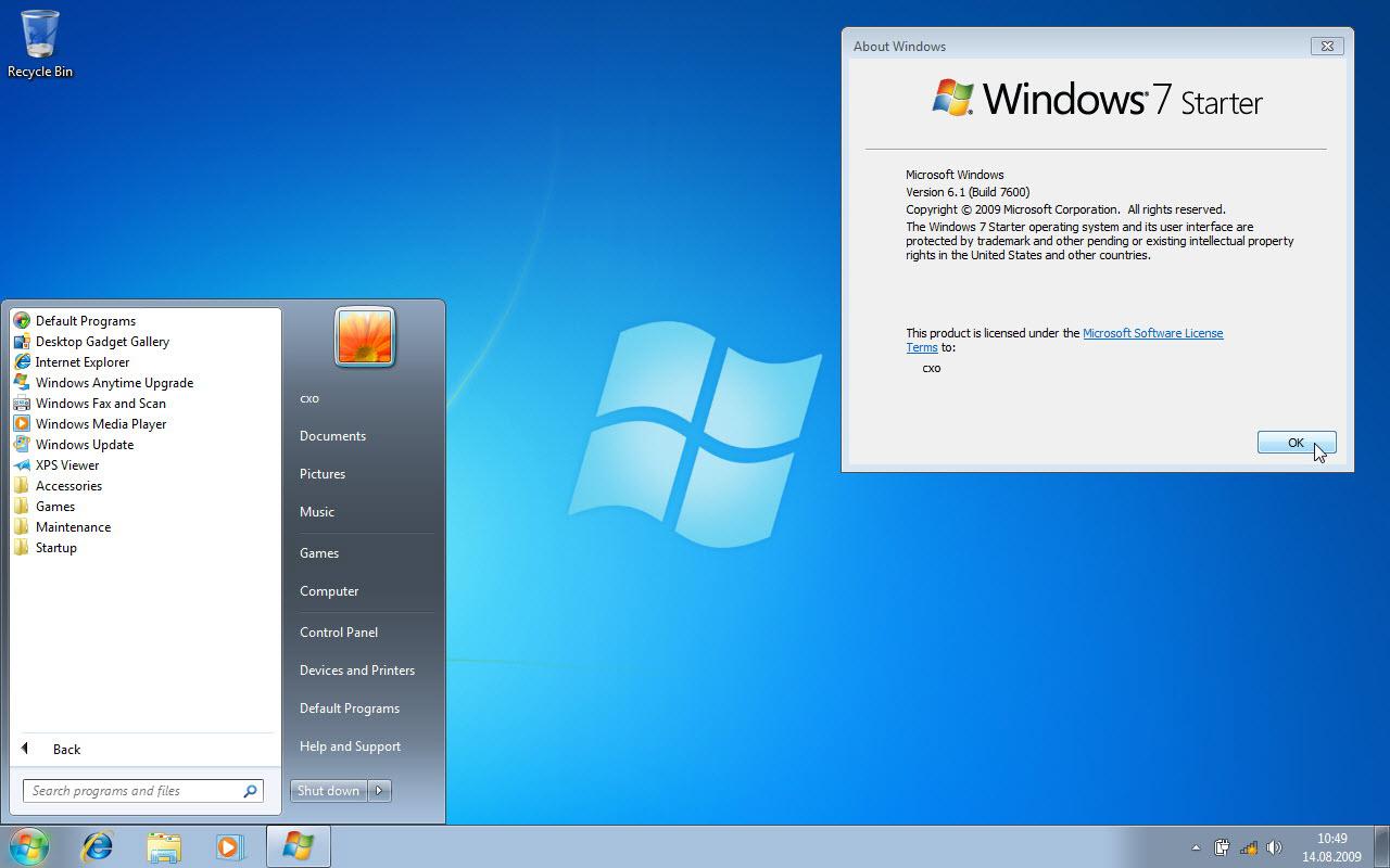 Windows 7 Starter Home Premium 39 A Kar Sayfa 2 Chip