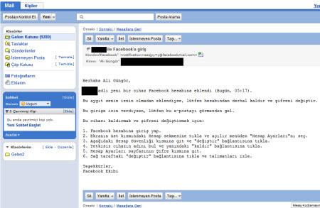 E-posta kontrolü