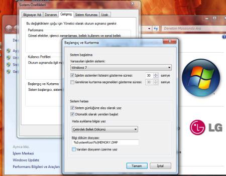 Windows'un hata raporları
