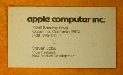 1979'dan kalan kartvizit!