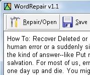 Word ve zip dosyalarını kurtarma