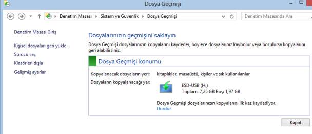 windows 8.1 silinen geçmişi görme