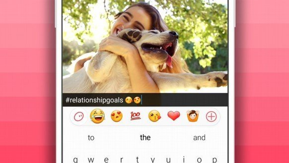 SwiftKey'den emoji klavyesi
