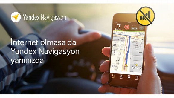 Yandex'e çevrimdışı navigasyon!