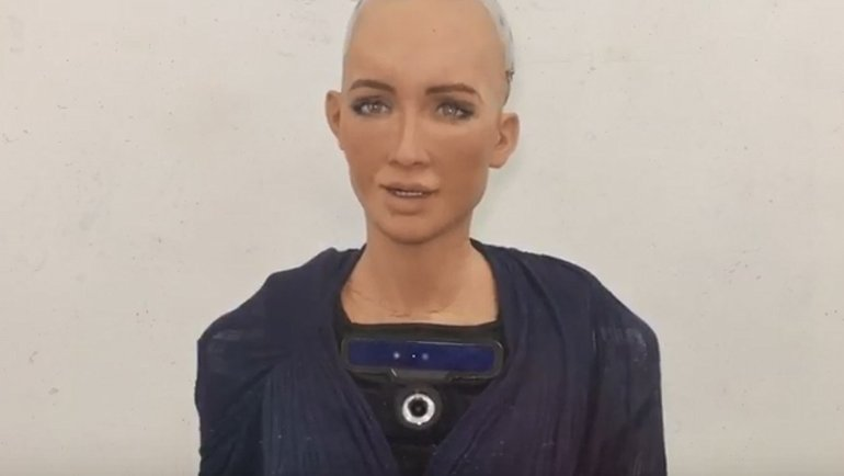 Robot Sophia'dan mesaj var