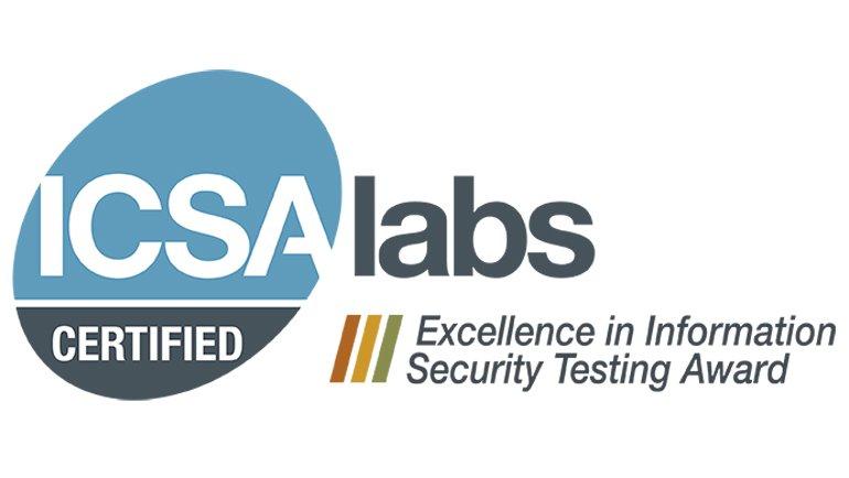 ICSA Labs'dan Mükemmellik Ödülü Kazandı!