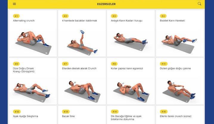 Egzersiz Antrenmanı Planı