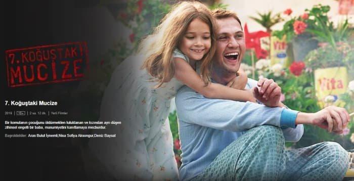 Netflix'te yayınlanan 7. Koğuştaki Mucize filmine yurtdışından yoğun ilgi!