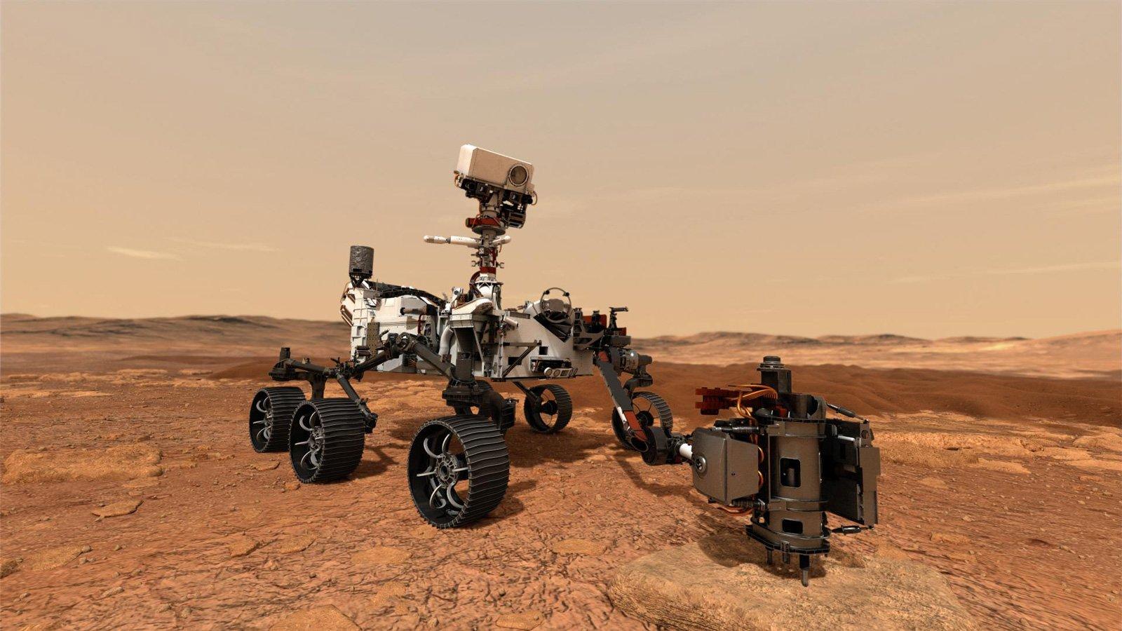 Perseverance (Tür. azim) olarak bilinen keşif aracı, Mars'ta yaşanabilir ortamların işaretlerini ararken, geçmişteki mikrobiyal yaşamın da izlerini araştıracak. Robotik gezgin, gelecekteki bir görevle Dünya'ya getirilebilecek olan bir dizi numune de toplayacak. Araba büyüklüğündeki bu uzay aracı, yaklaşık 3 metre uzunluğunda (kolu hariç) 2.7 metre genişliğinde ve 2.2 metre yüksekliğinde. 1.050 kilogram ağırlığa sahip Perseverance, küçük bir arabadan daha hafif.
