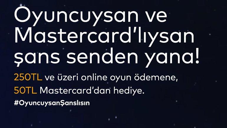 Mastercard'dan oyunculara kampanya