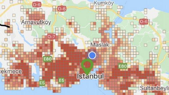 İstanbul koronavirüs yoğunluk haritası! İşte ilçe ilçe İstanbul son durum
