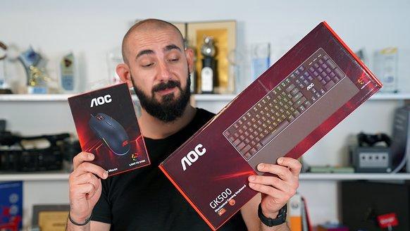AOC GM500 Gaming Mouse ve GK500 Gaming Keyboard'un Kutusunu Açıyoruz