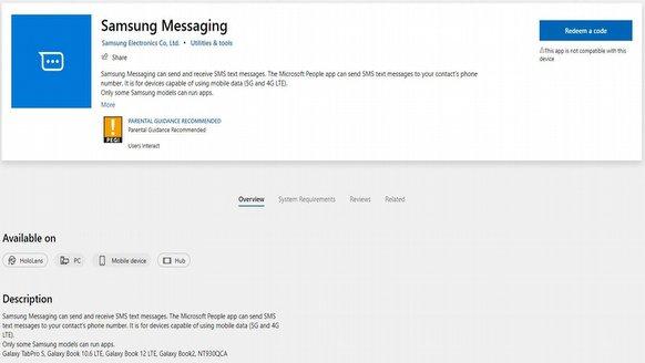 Samsung'dan PC'lere SMS sürprizi