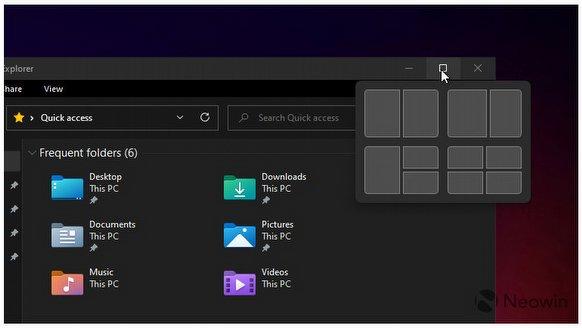 Windows 11'e yeni pencere özelliği