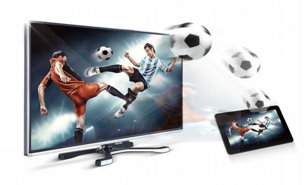 Uydu görüntülerini tablete aktaran akıllı TV.