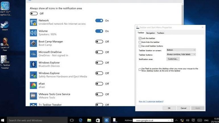 Windows 10'un Görev çubuğunu kişiselleştirin!