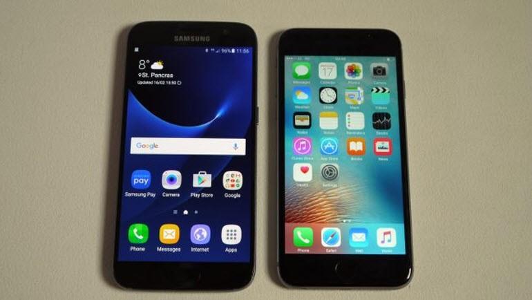 Samsung Galaxy S7, iPhone 6S'e karşı!
