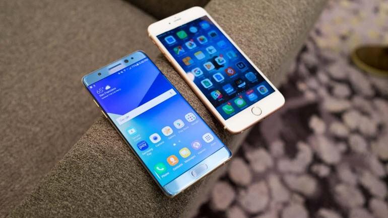 Galaxy Note 7 ve iPhone 6S Plus karşı karşıya!