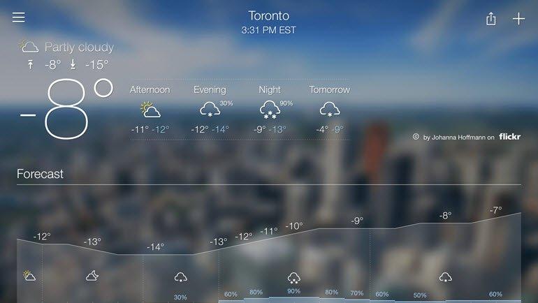 En İyi 8 Hava Durumu Uygulaması 2017