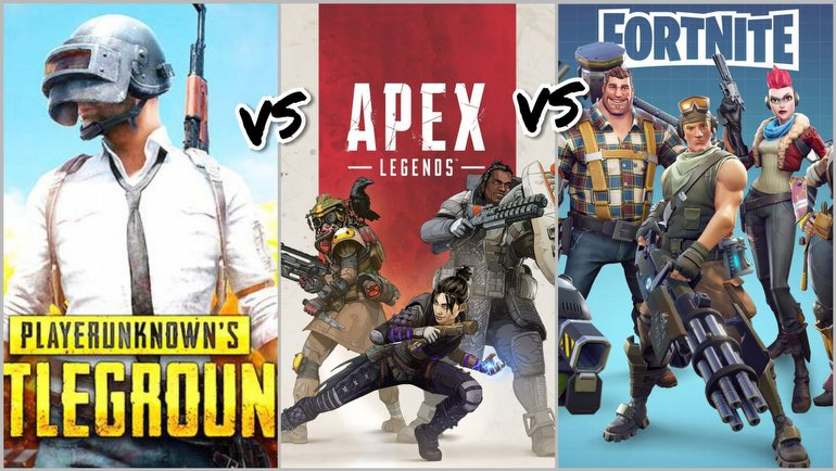 PubG vs Fortnite vs Apex Legends