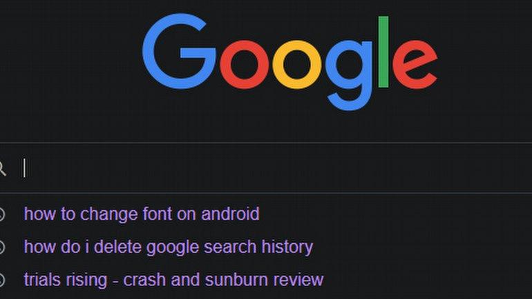 Google Aramalarını Temizleme