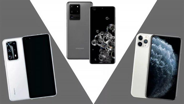 Huawei P40 Pro Plus vs Samsung Galaxy S20 Ultra vs iPhone 11 Pro Max