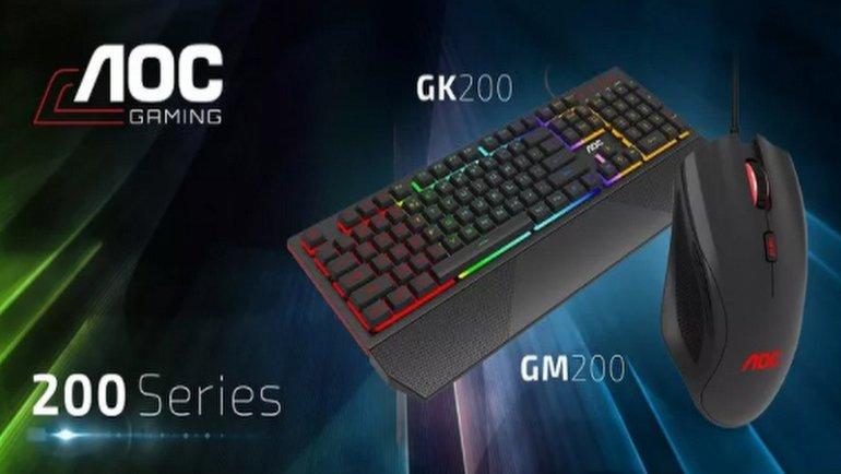 AOC GM200 Gaming Mouse ve GK200 Gaming Keyboard Kutudan Çıkıyor
