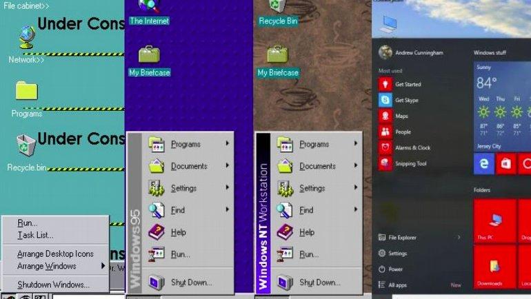 Başlat Menüsünün, İlk Günlerinden Windows 10'a Kadar Uzanan Yolculuğu