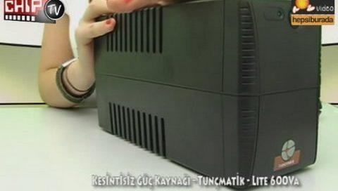 Tunçmatik Lite 600 VA - Kesintisiz Güç Kaynağı