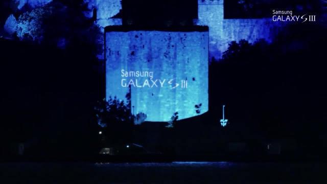 4D Projeksiyonlu Samsung Galaxy SIII şovu
