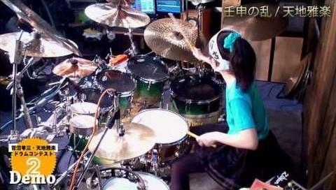 17 yaşındaki bateri ustası Senri Kawaguchi