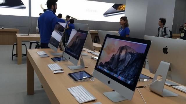 Akasya AVM'de açılacak Apple Store'u geziyoruz.