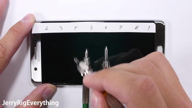 Galaxy Note 7 çiziklere karşı ne kadar dayanıklı?