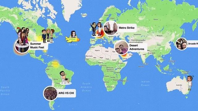 Snapchat'ten Yeni Konum Paylaşma İşlevi Snap Map