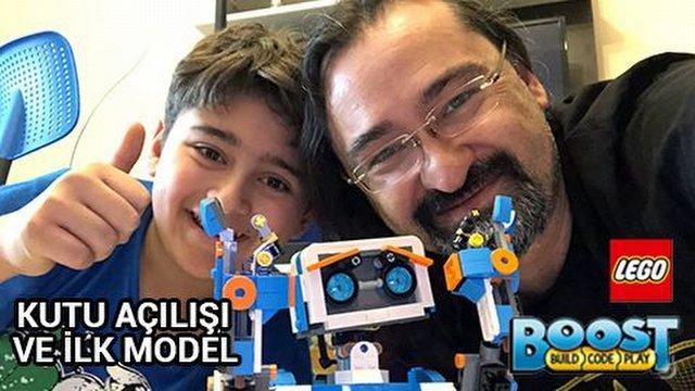 Lego'nun Boost serisinin robotu Vernie test merkezimizde...