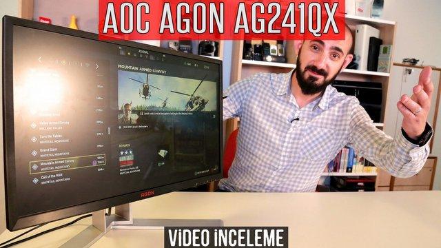 AOC AGON AG241QX Video İnceleme