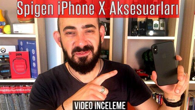 Spigen iPhone X Aksesuarları Video İnceleme