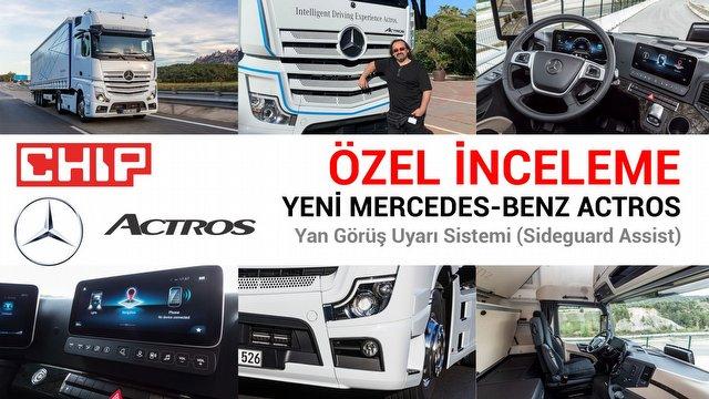 Yeni Mercedes-Benz Actros Yan Görüş Uyarı sistemi