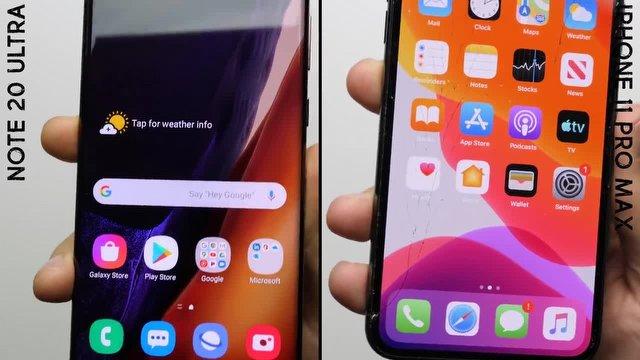 Galaxy Note 20 Ultra Düştü, iPhone 11 Pro Max Dağıldı!