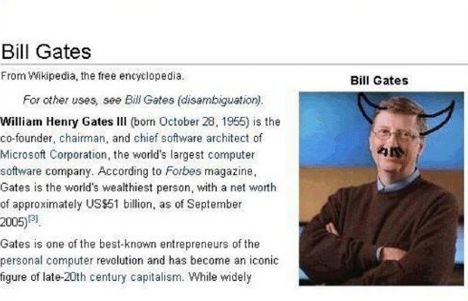 13. Bill Gates bir şeytan